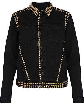 L'Agence Celine Studded Denim Jacket