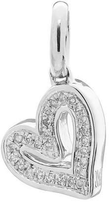 Monica Vinader Silver Alphabet Heart Diamond Pendant