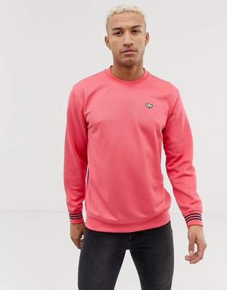 adidas Pique Logo Long Sleeve T-Shirt With High Neck DU7855 Pink