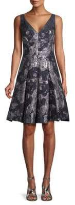 Aidan Mattox Jacquard A-Line Dress
