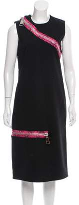 Christopher Kane Zip-Accented Midi Dress