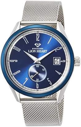 Lion Heart (ライオン ハート) - [ライオンハート]Lion Heart 腕時計 W103 ステンレススチール メッシュバンド ホワイト文字盤 クォーツ 日常生活防水 LHW103SBL 腕時計