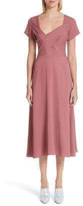 Sies Marjan Asymmetrical Fold Bodice Dress