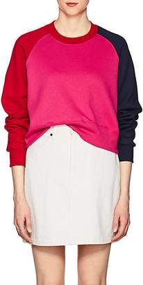 Cédric Charlier Women's Colorblocked Cotton Fleece Sweatshirt