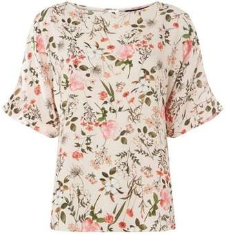 Dorothy Perkins Womens Blush Slouch Floral Top