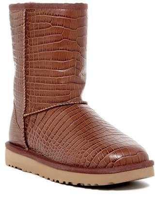 UGG Australia Classic Short Croc Embossed UGGpure(TM) Lined Boot $175 thestylecure.com