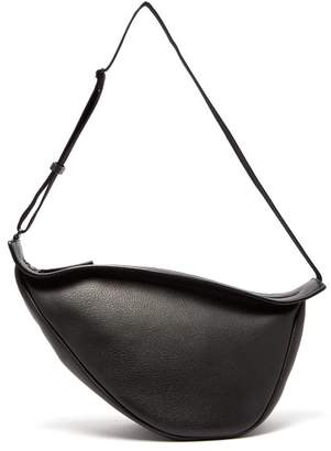 The Row Slouchy Banana Leather Cross Body Bag - Womens - Black