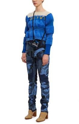 Le Sport Sac Mademe X Mini Blue Sparkles Crossbody Backpack