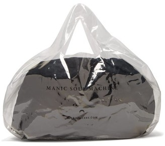 Marine Serre Logo Print Pvc Bag - Womens - Clear
