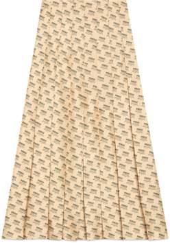 Gucci Flora Snake silk skirt