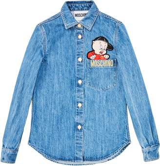 Moschino Porky Pig Denim Shirt