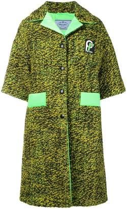 Prada Knickerbocker fabric coat