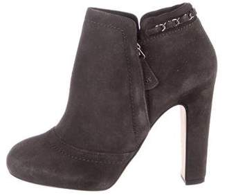 Chanel CC Suede Booties