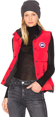 red womens canada goose gilet