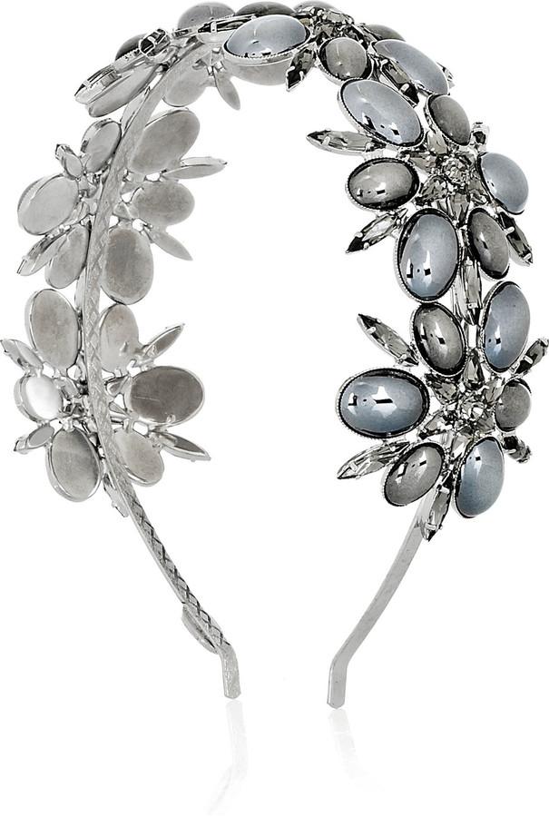 Louis Mariette Ines Swarovski crystal floral hairband