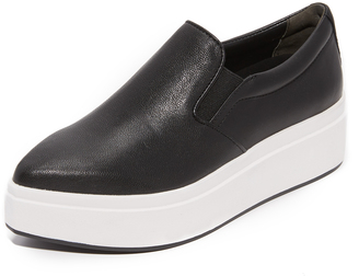 DKNY Trey Platform Slip On Sneakers $228 thestylecure.com