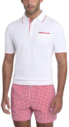 Stefano Ricci Contrast-Facing Jersey Polo Shirt