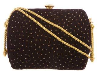 Donna Karan Suede Embellished Shoulder Bag