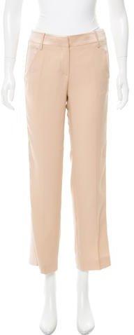 Emilio Pucci Mid-Rise Silk-Blend Pants w/ Tags