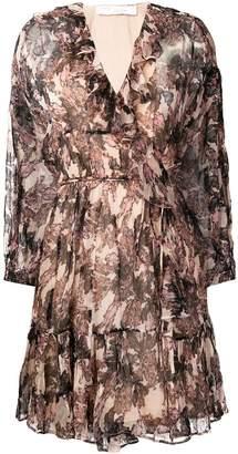 IRO floral ruffle dress