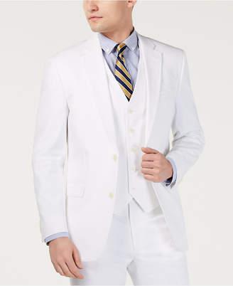 Tommy Hilfiger Men Modern-Fit THFlex Stretch Solid White Suit Jacket
