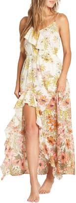 Billabong Hot Nights Floral Print Maxi Dress