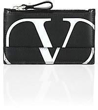 Valentino Men's V Logo Leather Cardholder