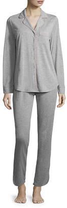 Ambrielle Notch Collar Pant Pajama Set- Talls