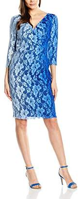 Gina Bacconi Women's Ombre Stretch Lace Dress