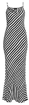 Saloni Women's Stella Striped Ruffle-Hem Maxi Dress - Size 0