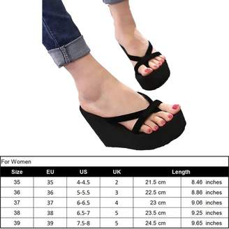 1c0b94ff91c3 at Amazon Canada · Genepeg Womens Sandals Summer High Heel Flip Flops  Slippers Wedge Platform Beach Shoes