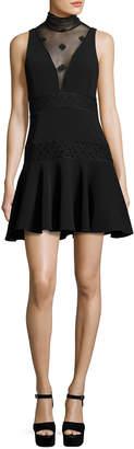 Cinq à Sept Concordia Sleeveless Fit & Flare Dress, Black