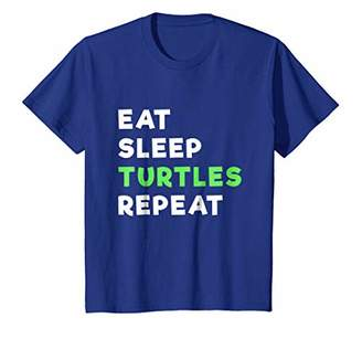 Eat Sleep Turtle Repeat Funny T Shirt