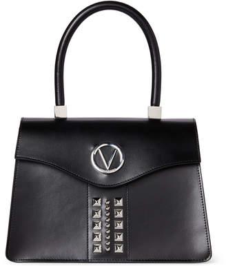 Valentino By Mario Valentino Black Melanie Studded Satchel