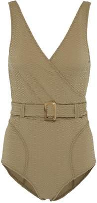 Lisa Marie Fernandez 'Yasmin' belted textured one-piece swimsuit