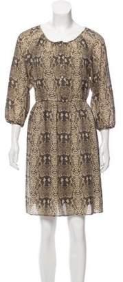 Marc by Marc Jacobs Silk Mini Dress Olive Silk Mini Dress