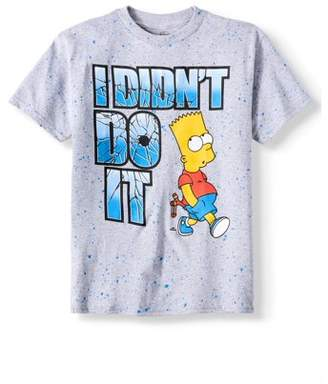 Fox Short Sleeve Bart Didnat Do it Splatter Graphic Tee (Big Boys)