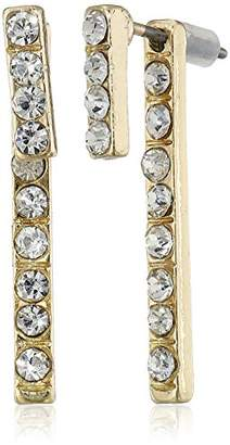 A.V. Max Rhinestone Front-Back Stick Gold Earring Jackets