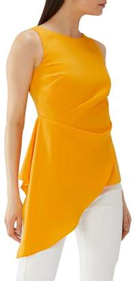 Coast Orange 'Cynthia' Asymmetric Ruched Top