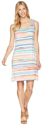 Tribal Printed Jersey Sleeveless Dress with Pocket Women's Dress