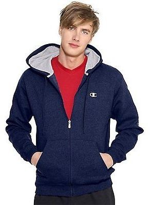 Champion Eco Fleece Full-Zip Men's Hoodie Sweatshirt