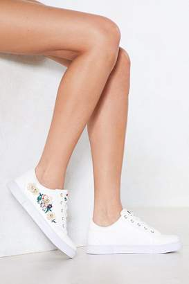 Nasty Gal Stamping Ground Embroidered Sneaker