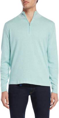 Br.Uno Ferraro Quarter-Zip Mock Neck Sweater