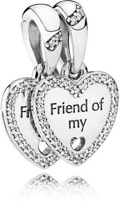 Pandora Hearts Of Friendship Pendant Charm - Sterling Silver