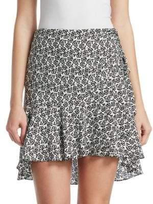A.L.C. Farrow Floral Hi-Lo Mini Skirt