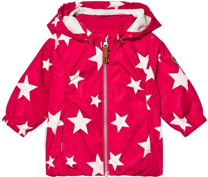 Rose Red Althea Jacket With Detachable Hood