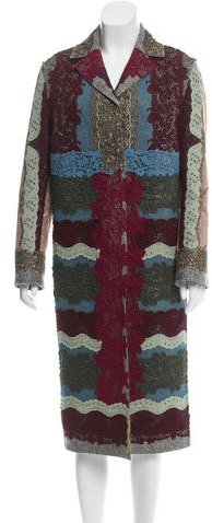 Valentino Valentino Lace Overlay Long Coat w/ Tags