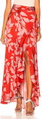 Patbo Leaf Print Wrap Skirt