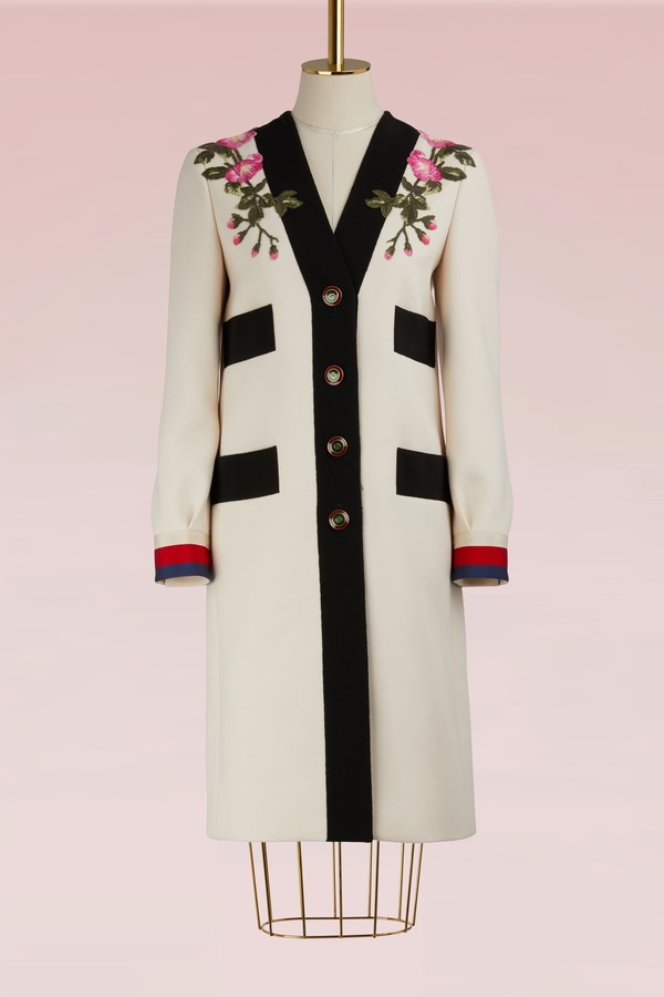 Gucci Embroidered wool coat