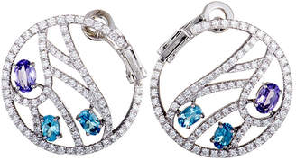 Damiani 18K 1.40 Ct. Tw. Diamond & Gemstone Earrings